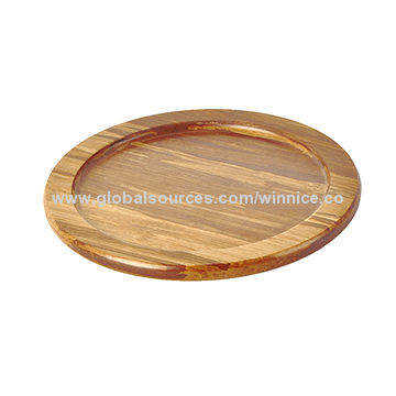 Round-shaped Acacia Wood Cutting, Hot Selling with Good Price