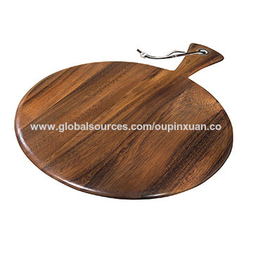 Custom Handmade Round Acacia Wood Cutting Board