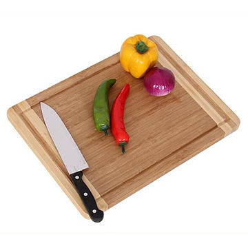 Natural Bamboo Cutting Board which used to cut vegetable,fruit,cheese,bread